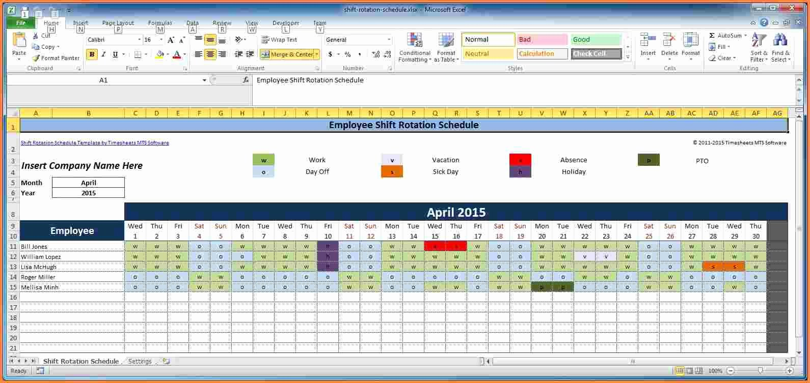 Excel Work Schedule Template New 7 Employee Scheduling Spreadsheet Excel