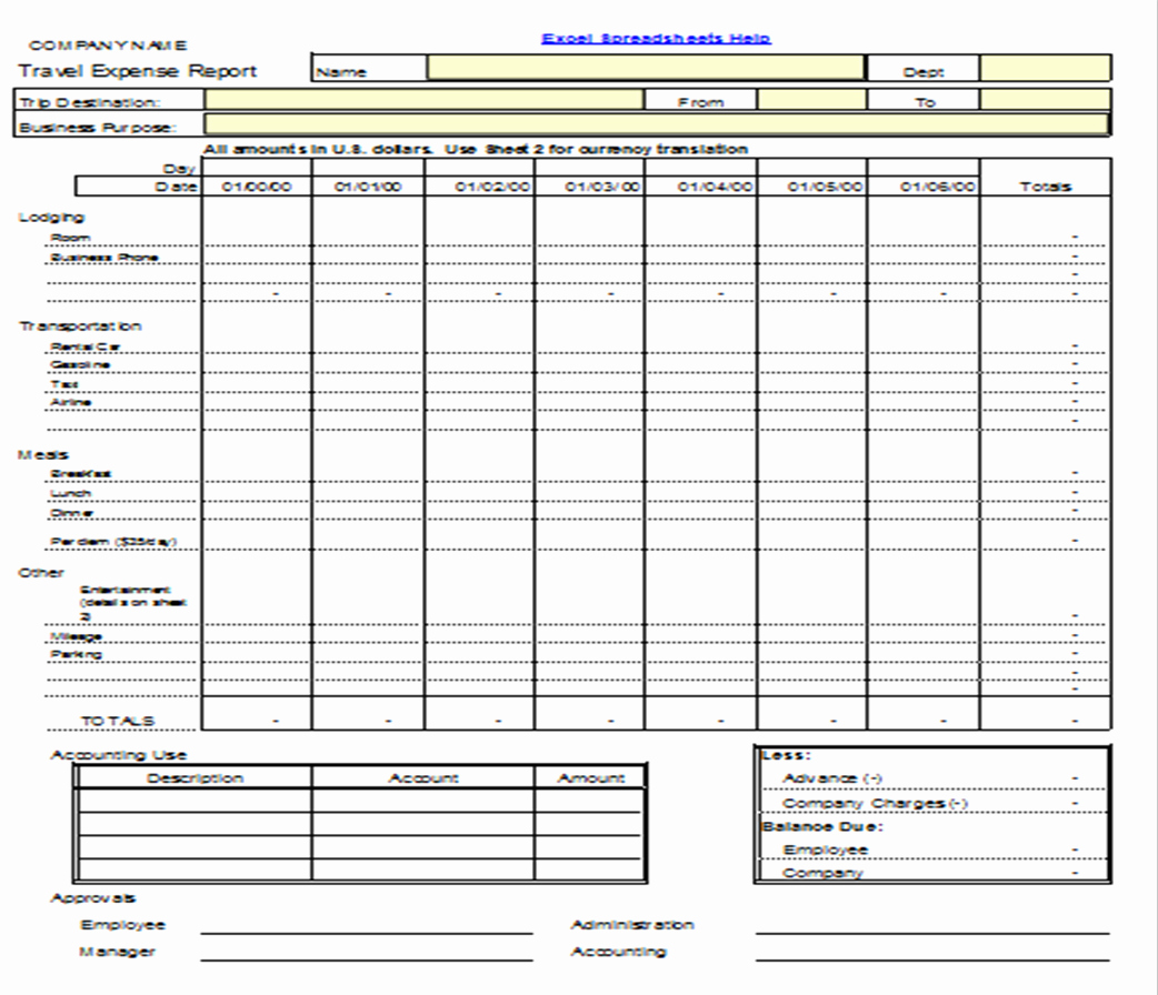 Expense form Template Excel New Excel Spreadsheets Help November 2012