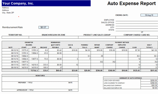 Expense form Template Excel Unique Expense Reports