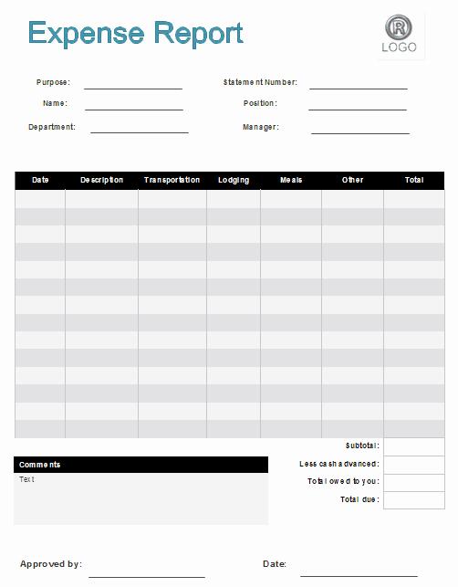 Expense Reimbursement form Template Luxury 7 Expense Claim form Templates Excel Templates