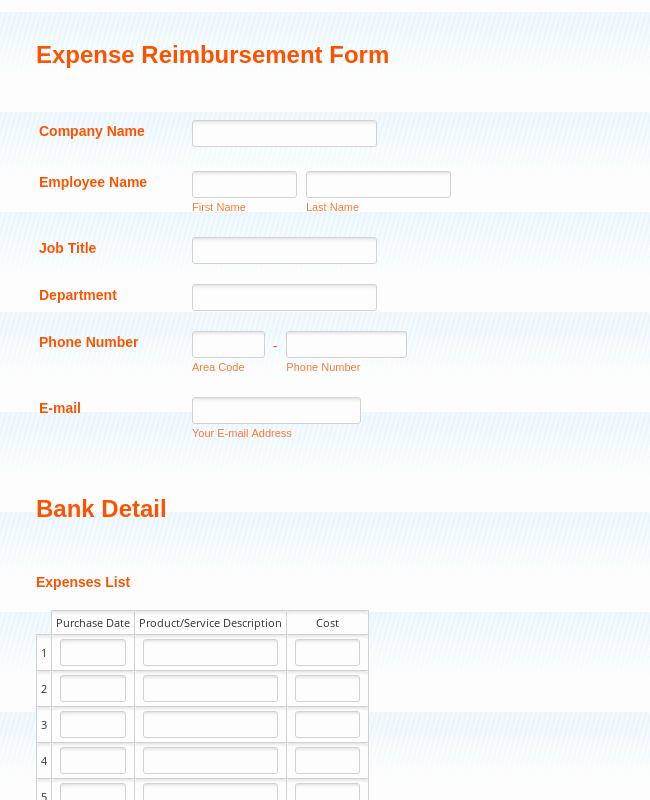 Expense Reimbursement form Template Luxury Expense Reimbursement form Template