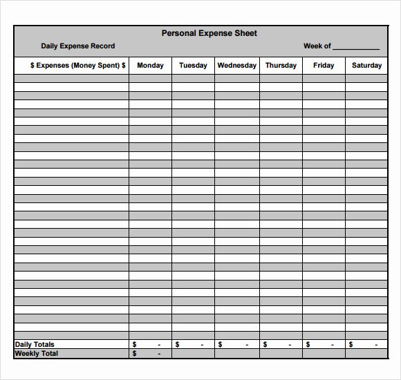 Expenses form Template Free Best Of Free 9 Sample Expense Sheets In Pdf