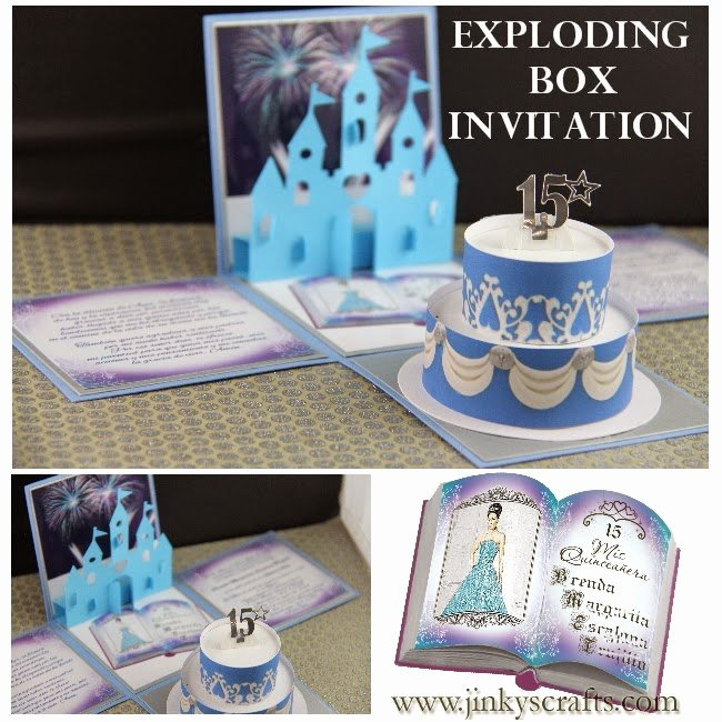 Exploding Box Invitation Template Lovely Jinky S Crafts & Designs Disney Quinceanera Exploding Box