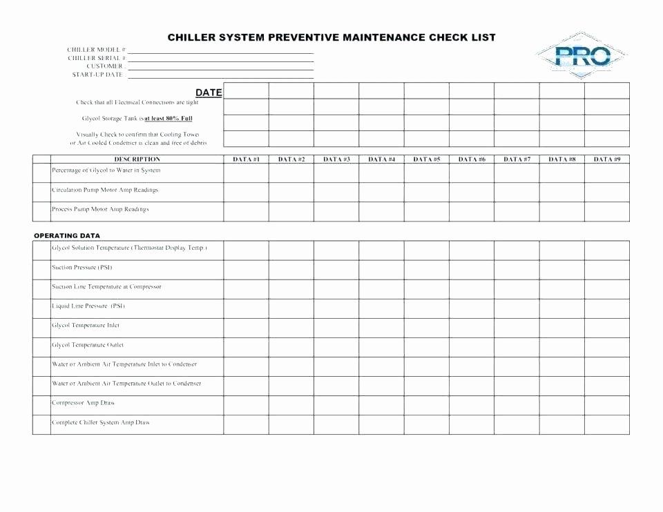 Facility Maintenance Plan Template Beautiful Facility Maintenance Checklist Template