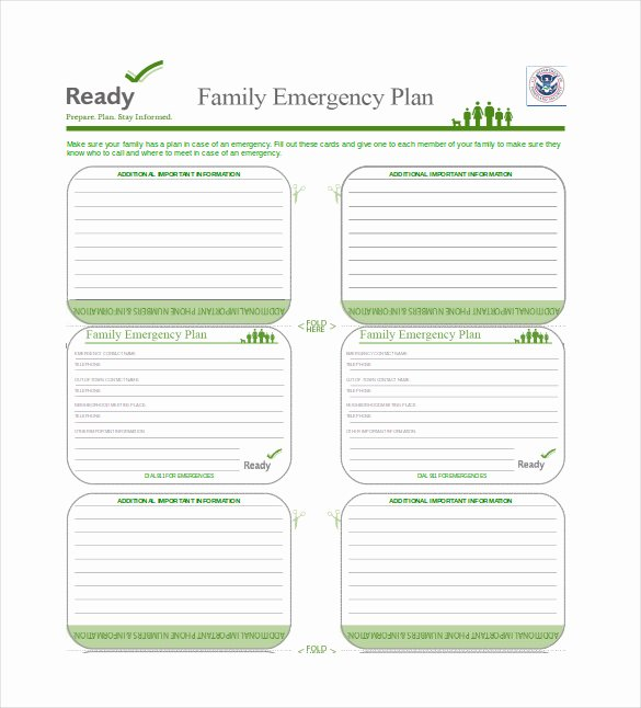 Family Disaster Plan Template Awesome 16 Emergency Plan Templates Free Sample Example