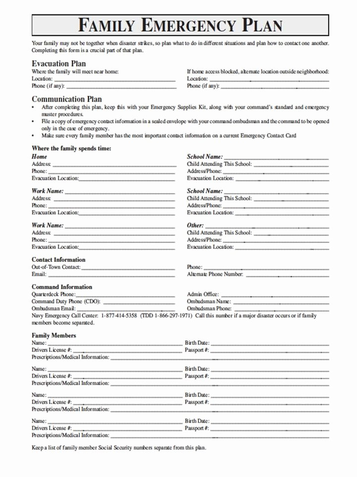 Family Disaster Plan Template Awesome National Geographic Films