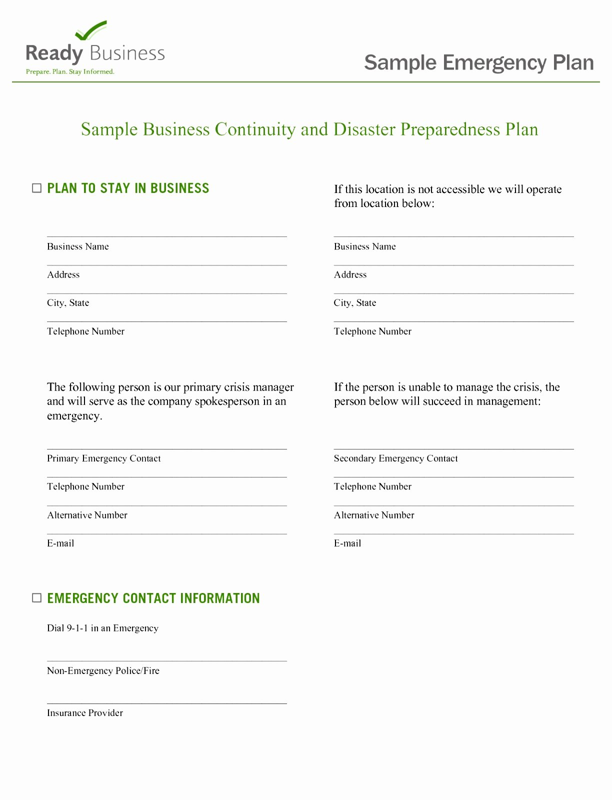Family Disaster Plan Template Beautiful 5 Flood Emergency Response Plan Template totqe