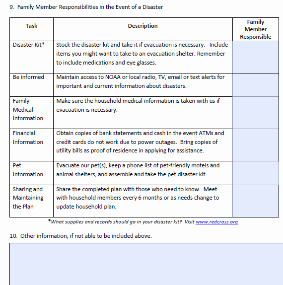Family Disaster Plan Template Beautiful Best S Of Family Disaster Plan Example Emergency