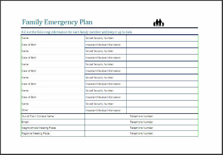 Family Disaster Plan Template New 5 Family Emergency Plan for Free Sampletemplatess