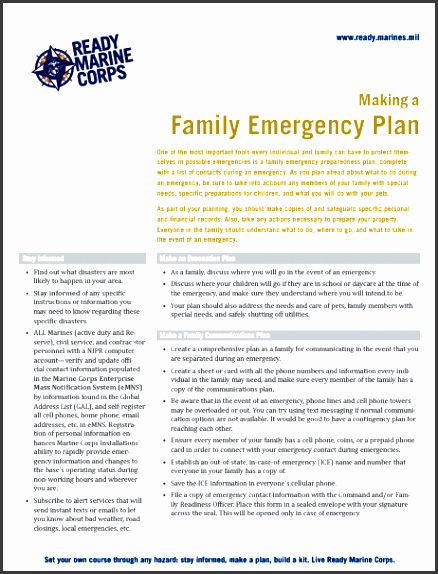 Family Disaster Plan Template Unique 5 Family Emergency Plan Layout Sampletemplatess