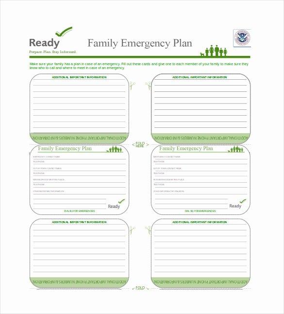Family Emergency Preparedness Plan Template Luxury 16 Emergency Plan Templates Free Sample Example
