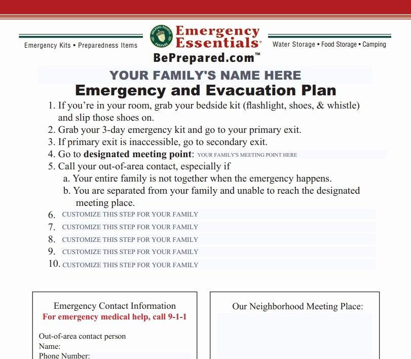 Family Emergency Preparedness Plan Template New Create A Family Emergency Plan In 10 Minutes or Less