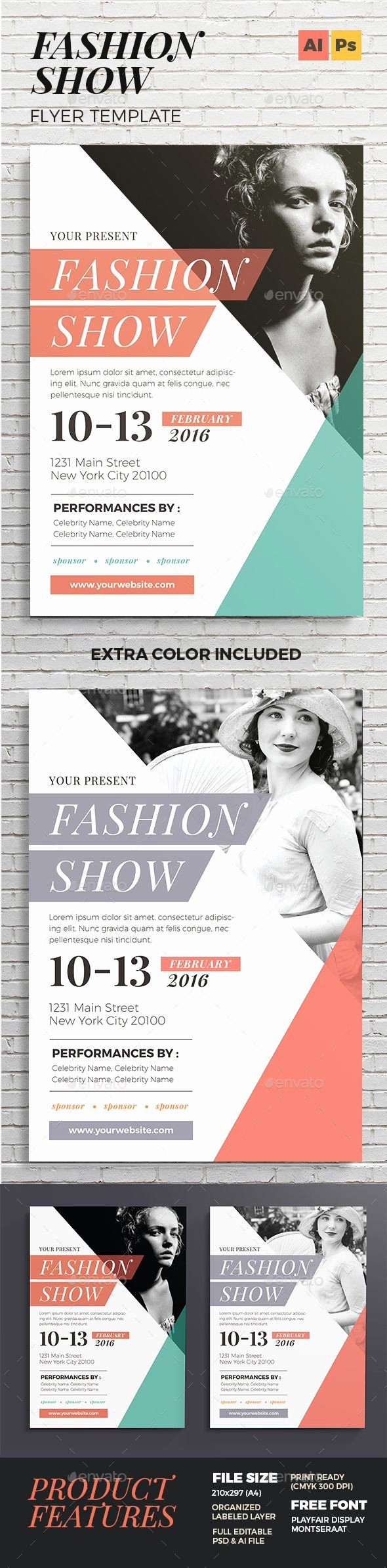 Fashion Show Invitation Template Awesome Pin by Best Graphic Design On Flyer Templates