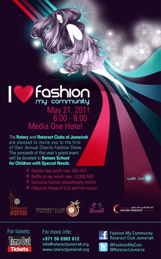 Fashion Show Invitation Template Awesome Rotaract Jumeirah Blog Fashion My Munity Charity