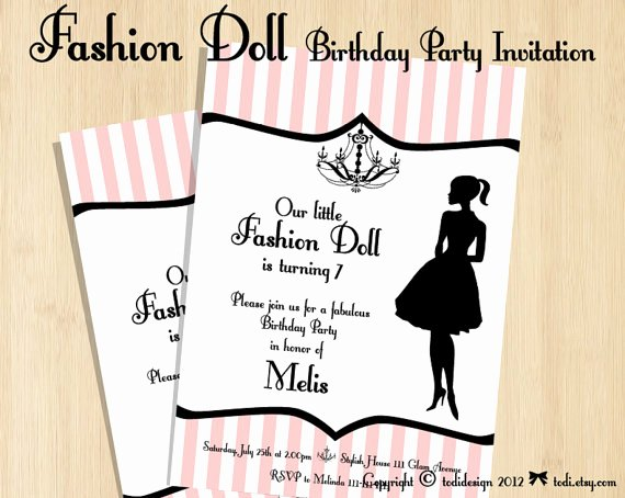 Fashion Show Invitation Template Elegant Fashion Show Birthday Party Invitations — Free Invitation