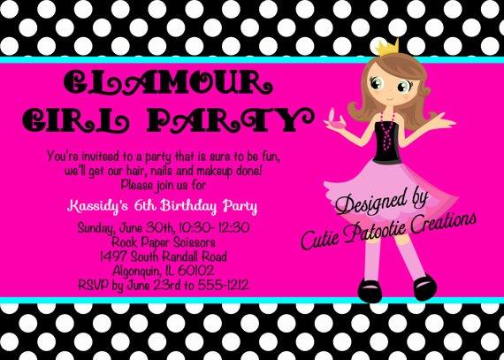 Fashion Show Invitation Template Inspirational Fashion Show Birthday Party Invitations Ideas – Bagvania
