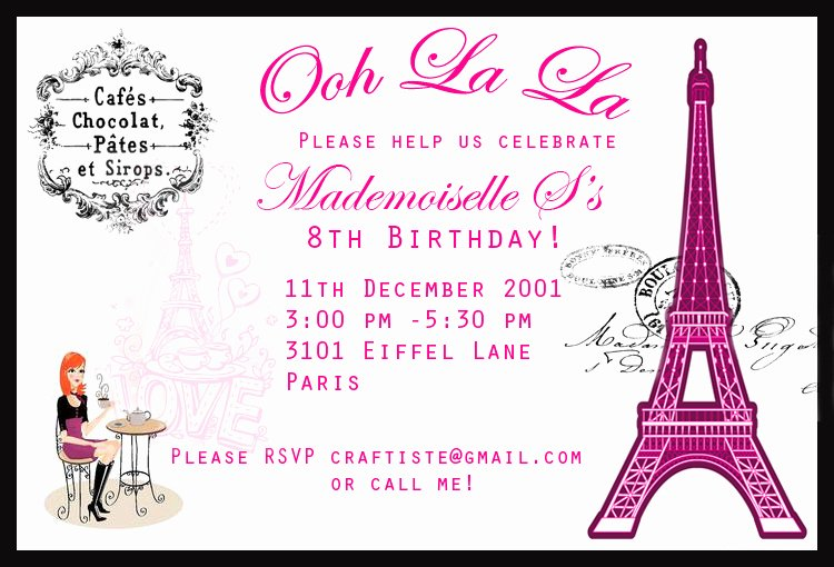 Fashion Show Invitation Template Inspirational Here and now Paris themed Birthday Party