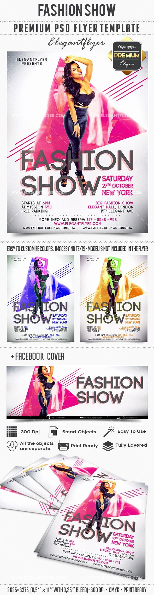 Fashion Show Invitation Template Luxury Fashion Show Invitation Flyer Template – by Elegantflyer