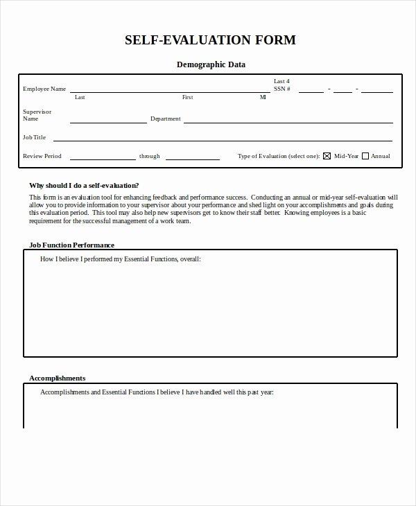 Feedback form Template Word Elegant Employee Evaluation form Example 13 Free Word Pdf