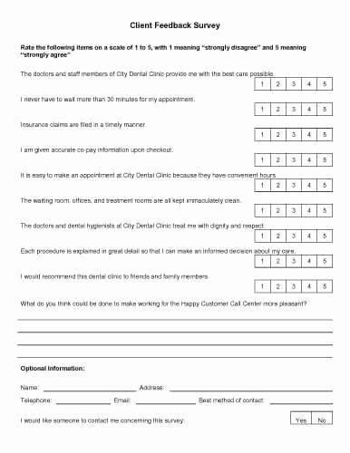 Feedback form Template Word Luxury 30 Sample Survey Templates In Microsoft Word