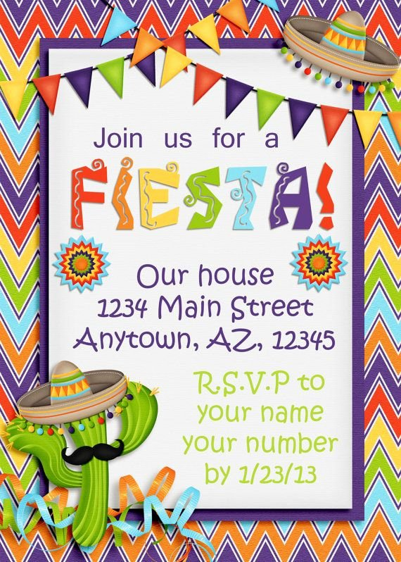 "Fiesta Party Invitation Template Awesome Best 25 ""fiesta Invites"" Images On Pinterest"