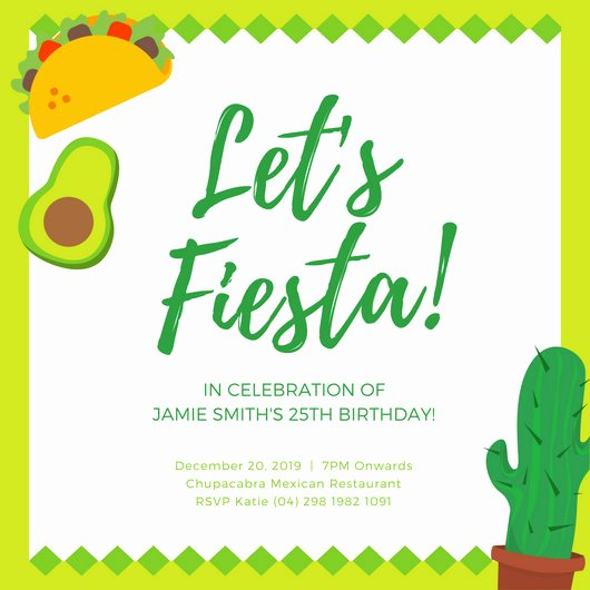 Fiesta Party Invitation Template Awesome Customize 73 Fiesta Invitation Templates Online Canva