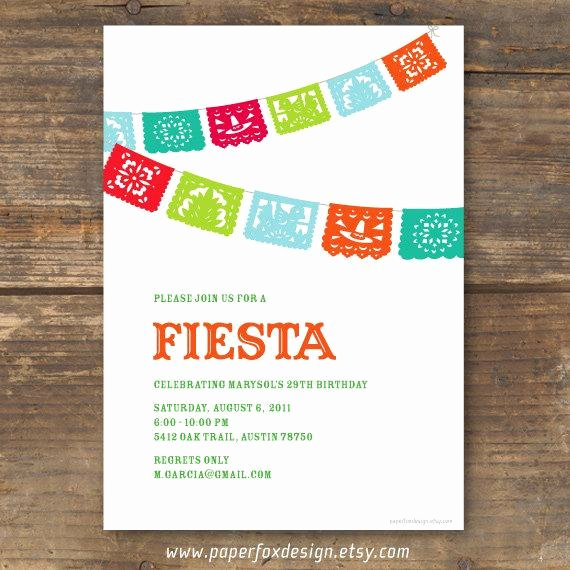 Fiesta Party Invitation Template Awesome Fiesta Party Invitation Printable by Paperfoxdesign On Etsy