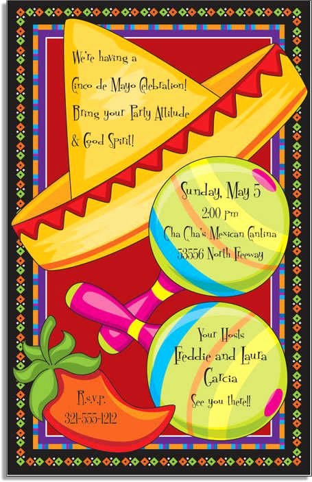 Fiesta Party Invitation Template Awesome Free Mexican Fiesta Invitation Templates Google Search