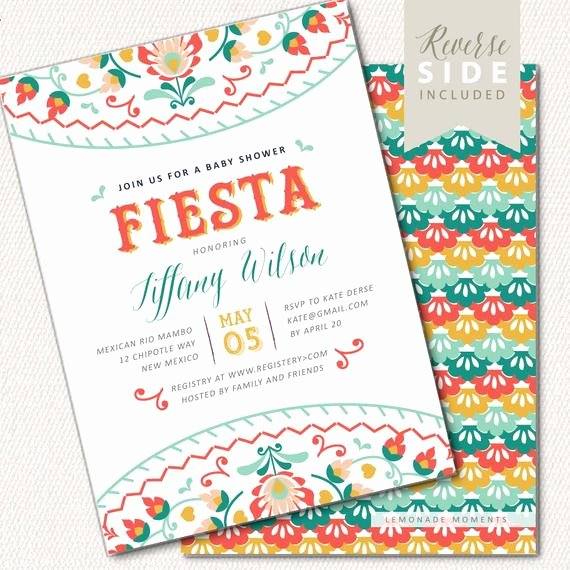Fiesta Party Invitation Template Best Of Fiesta Baby Shower Invitation Mexican Fiesta Invite