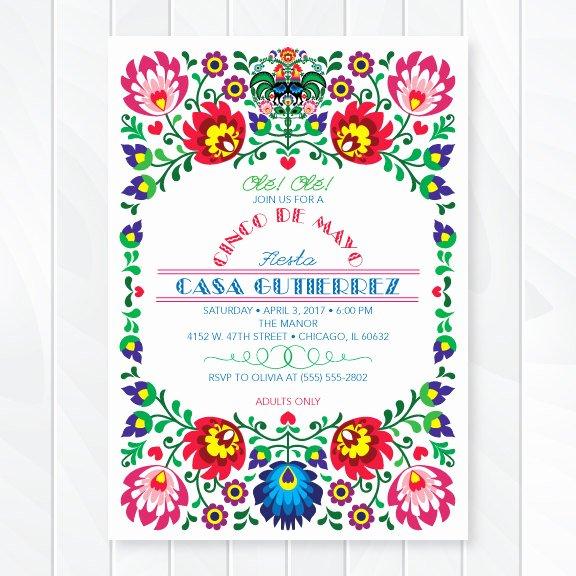 Fiesta Party Invitation Template Elegant Cinco De Mayo Fiesta Invitation – First Es Love then