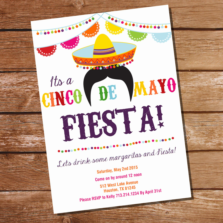 Fiesta Party Invitation Template Elegant Cinco De Mayo Fiesta Invitation Mexican Fiesta Invitation