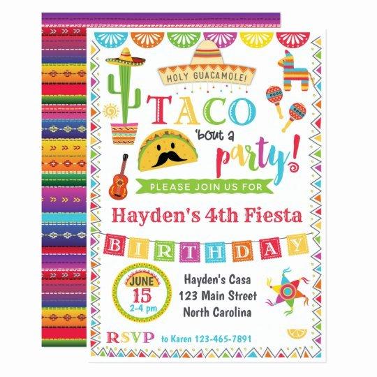Fiesta Party Invitation Template Elegant Fiesta Birthday Invitation Mexican Fiesta Party