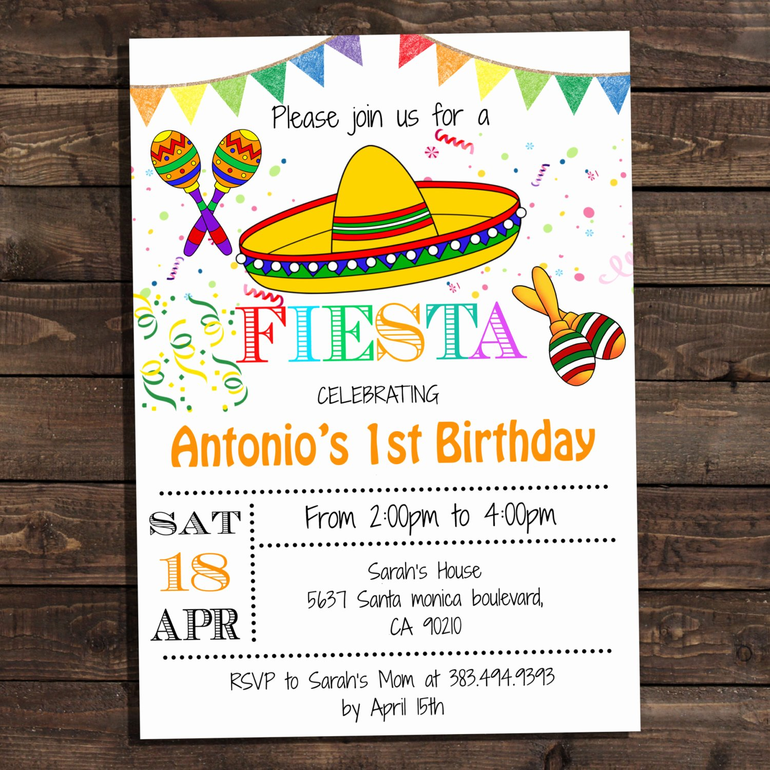Fiesta Party Invitation Template Elegant White Fiesta Birthday Party Invitations Digital Printable