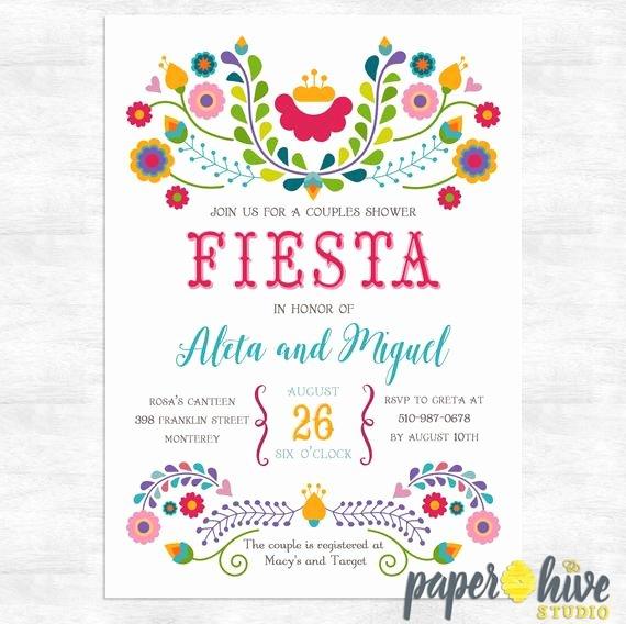 Fiesta Party Invitation Template Fresh Fiesta Invitation Fiesta Couples Shower Invitations Cinco