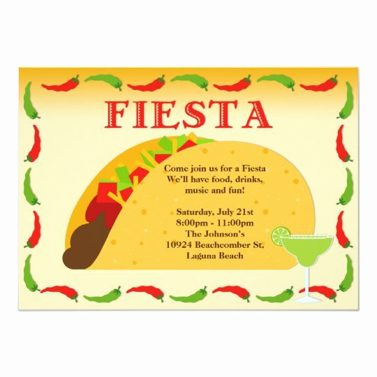 Fiesta Party Invitation Template Inspirational Fiesta Party Invitation