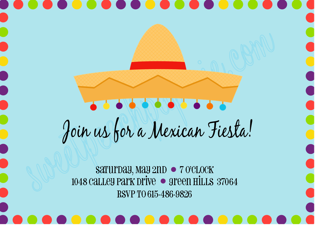 Fiesta Party Invitation Template Inspirational the Sweet Peach Paperie Mexican Fiesta Invitations