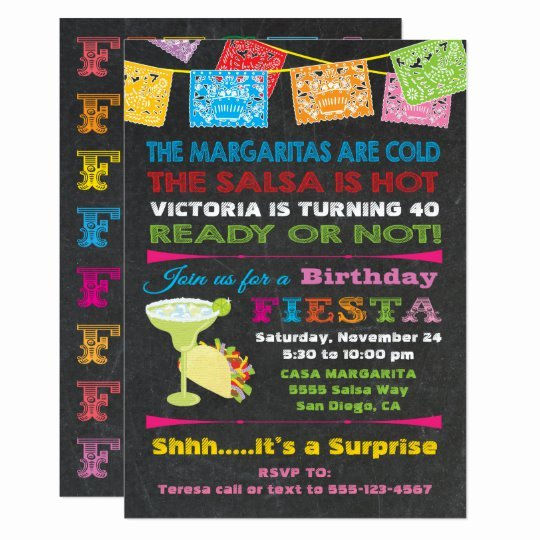 Fiesta Party Invitation Template Lovely Mexican Fiesta Birthday Party Invitation