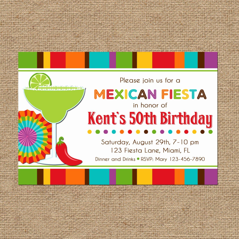 Fiesta Party Invitation Template Unique Mexican Fiesta Party Invitation Printable or Printed with Free