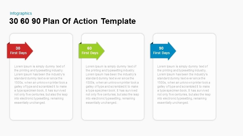 First 90 Days Plan Template Elegant 30 60 90 Day Plan Action Template for Powerpoint and