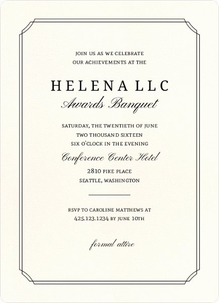 Formal event Invitation Template Fresh formal event Invitation