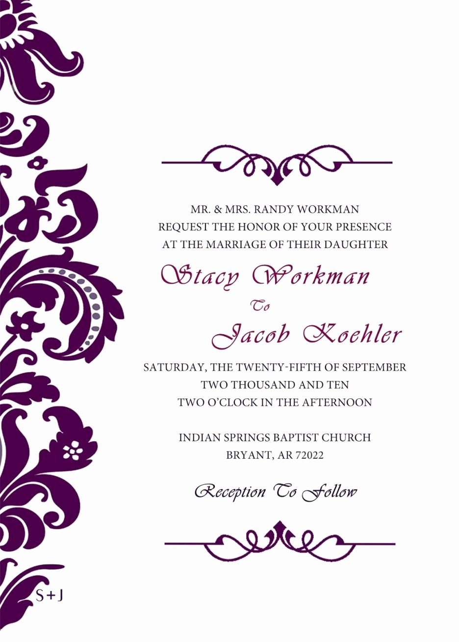 Formal Invitation Template Free Beautiful Neat and Simple In 2019