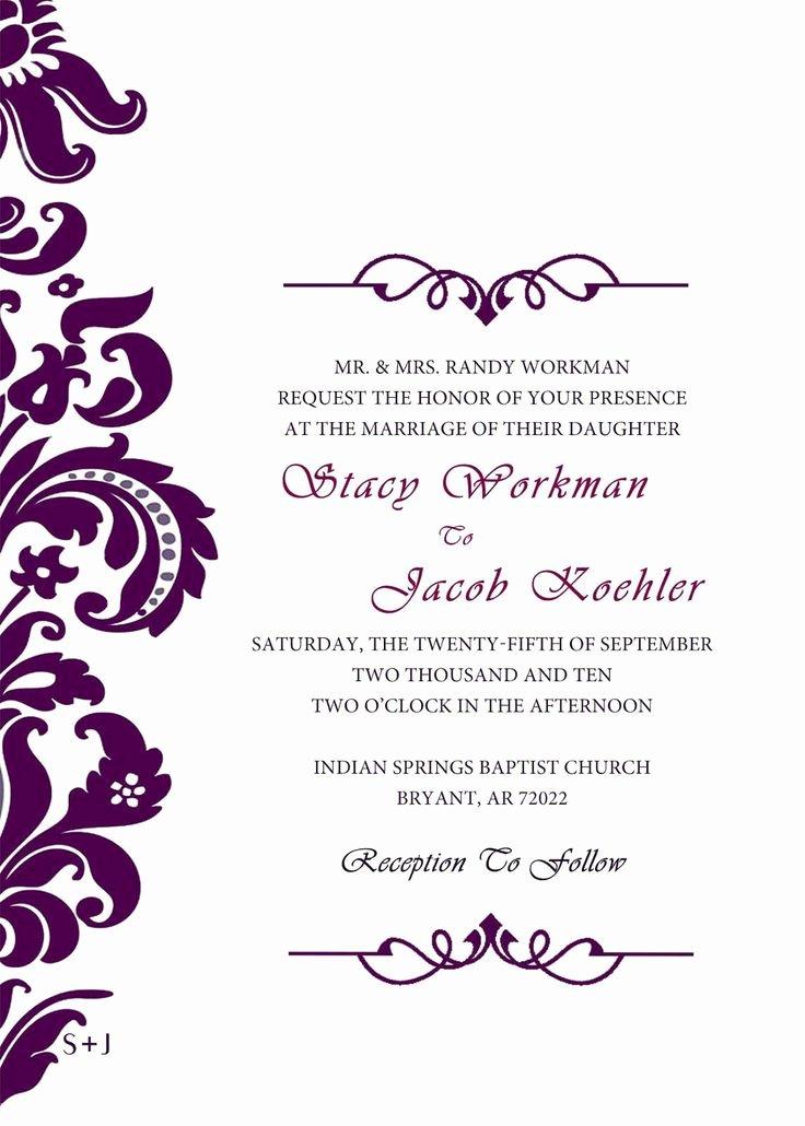 Formal Invitation Template Free Fresh Best Invitation Cards Unique Wedding Invitation Card