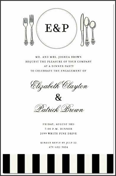Formal Invitation Template Free Lovely 6 Business Dinner Invitation Template Free