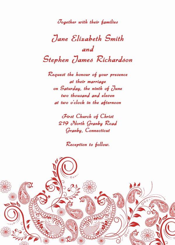 Formal Invitation Template Free Unique formal Wedding Invitations Free Printable Wedding Invitations
