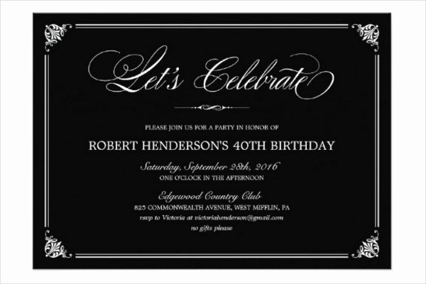 Formal Invite Template Free Beautiful 31 Examples Of Birthday Invitation Designs Psd Ai