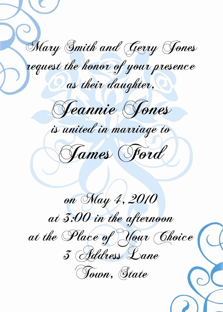 Formal Invite Template Free New formal Invitation Design Template Blogsmode