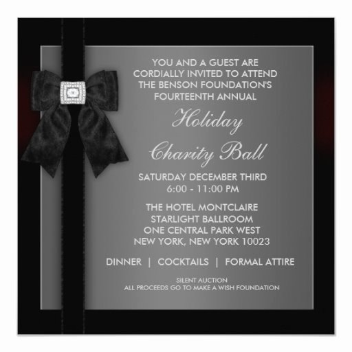 Formal Invite Template Free Unique Corporate Black Tie event formal Template Invitation
