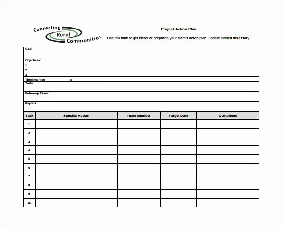 Free Action Plan Template Awesome Sample Project Action Plan Template 17 Documents In Pdf