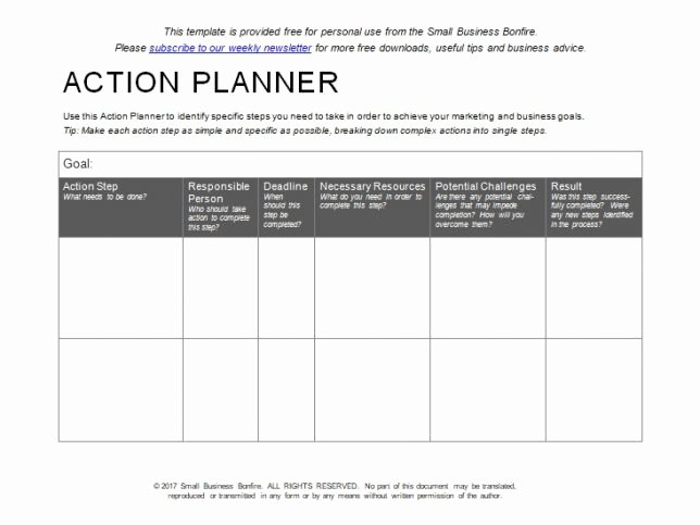 Free Action Plan Template Lovely 10 Effective Action Plan Templates You Can Use now