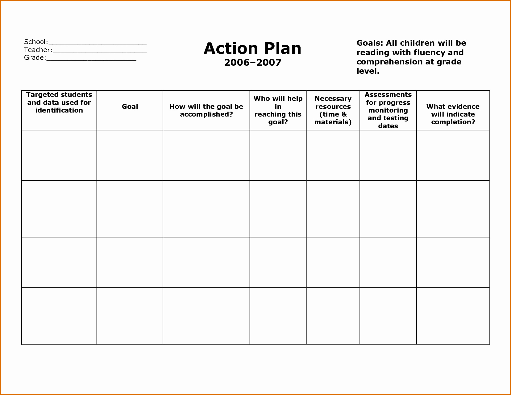 Free Action Plan Template New 8 Action Plan Template Free